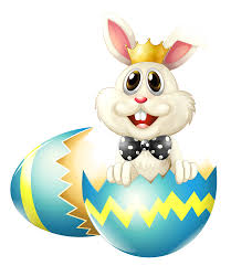 Easter Bunny with Crown PNG Clipart Picture