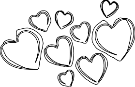 White Cg Heart4 Heart Outline Drawing 19 Banner Clipart Black And