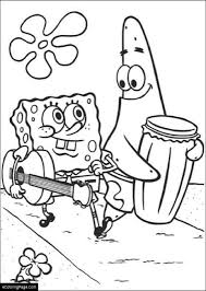 Spongebob Patrick Walking Printable Coloring Page