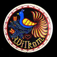 Welcome Distelfink Bird Black 8