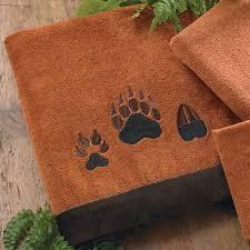 Paw Prints Copper Bath Towel