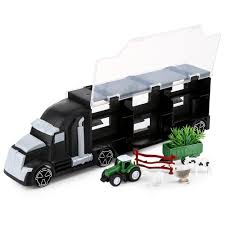 100 Cow Truck Large Container Kids Trailer With Farmer Vehicles Farm Animals