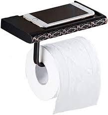 gqqg toilettenpapierhalter wand montiert mit ablage