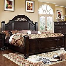 amazon com syracuse transitional dark walnut queen size bed