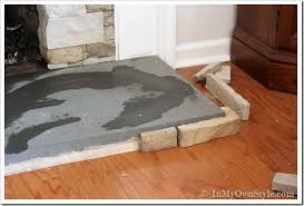 how to paint a concrete hearth to look like in my own style