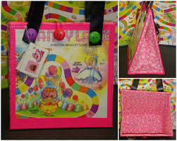 Upcycled Pink Candy Land Board Game Purse Novelty Gift Made From Vintage This