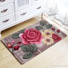 großhandel große blumen 3d teppich kinderzimmer küche teppiche badezimmer teppich fußmatte tapete para quarto eingang türmatten im freien billig