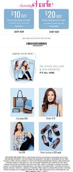 Charming Charlie Coupons - $10 Off $30 & More At Wayfair Coupon Code Black Friday Cleartrip Coupons Charming Charlie Coupon Codes Shoppingworldzcom Bogo All Reg Priced Jewelry And Watches Original South Africa Shop Promo Allegiant Air Bgage Grand Haven 9 Backyardpoolsuperstore Com Freecharge Dish Tv Today Get Discount On Airpods Yoga Outlet Uk Sears Auto Alignment 15 Off 65 More At Cc Domain Deals O2 Iphone 5s Mcdonalds Codes India Business 21 Publishing Kwik Kar Frisco Oil Change Nordstrom Nicotalia Moo Shoes