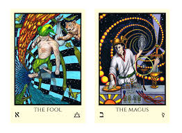 thoth deck the fool tabula mundi tarot an inspired thoth based tarot deck by m m meleen