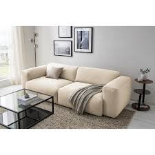 home24 studio copenhagen sofa hudson ii 3 sitzer beige webstoff 259x71x102 cm bxhxt skandi