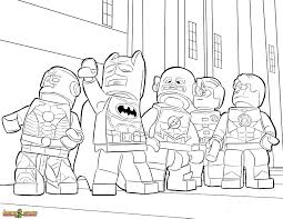 The LEGO Movie Coloring Page Justice League Printable Color Sheet