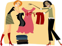 Girls Clothes Shopping Clipart 25