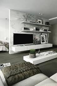 interessante moderne wohnzimmer wandgestaltung tv und