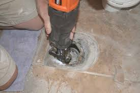 to install an offset toilet flange