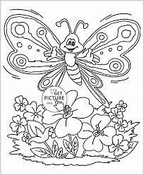 Butterfly Coloring Pages For Toddlers 245694 Cute Spring Page
