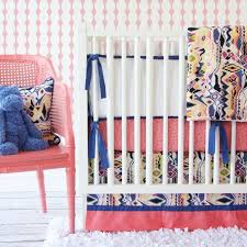 Teal And Coral Baby Bedding by Nursery Beddings Coral Navy And Mint Crib Bedding With Coral And