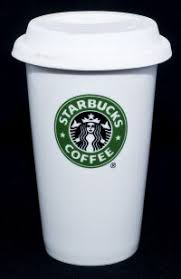Starbucks Tall Mermaid Logo Travel Coffee Mug Cup With Rubber Lid 2010