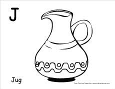 The Letter J Coloring Pages Writing And Sheet