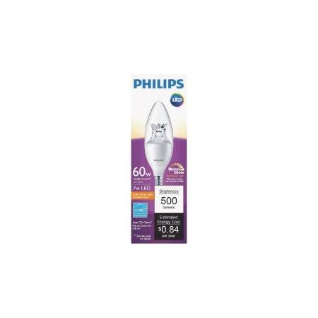 Philips Led Dimmable B12 Light Bulb - Soft White, 7W, 120V