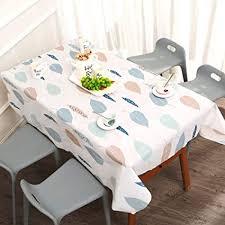 dusenly farbige wasserdichte tischdecke ölbeständige tischdecke abwischbar pvc tischdecke für rechteckige tische küche esszimmer garten und