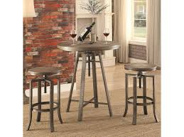 Coaster 10181 Three Piece Adjustable Height Pub Table And Stool Set ... Kitchen Pub Tables And Chairs Fniture Room Design Small Kitchenette Table High Sets Bar With Stools Round Bistro Bistro Table Sets Cramco Inc Trading Company Nadia Cm Bardstown Set With Bench Michaels Contemporary House Architecture Coaster Lathrop 3 Piece Miskelly Ding Indoor Baxton Studio Reynolds 3piece Dark Brown 288623985hd 10181 Three Adjustable Height And Stool Home Styles Arts Crafts Counter