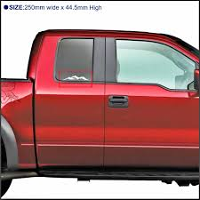 100 Custom Window Decals For Trucks Car Stickers 1pc Mountain Off Road 4x4 Car Wimdon Tail Gate Hood Rear Trail Custom For Chevy Hilux Revo Vigo Dmax F150 Mud