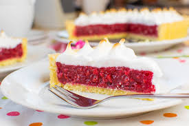 himbeer baiser torte