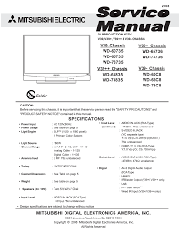 mitsubishi electric wd 52527 specifications