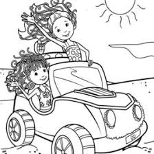 Features Items Groovy Girls Ride Car On Beach Coloring Pages