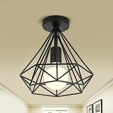 finish retro style entry hallway flush mount ceiling light at