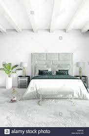 weiß schlafzimmer minimal style interior design mit holz