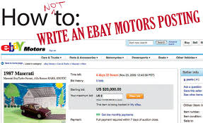 100 Cars Trucks Ebay How Not To Write An EBay Motors Posting