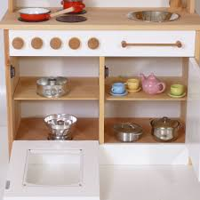 weiße stabile kinder spiel küche holz spielzeug peitz