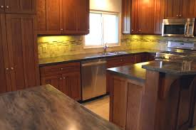 Kitchen Backsplash With Oak Cabinets by Quatersawn White Oak Cabinets With Custom Tile Backsplash
