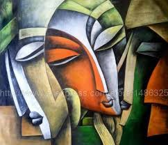 Indian Abstract Art Paintings Modern Oil On Canvas Painting And Colourful Wall