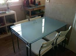 bureau ikea plateau verre bureau ikea plateau verre cosimo blanc et plaque treteaux