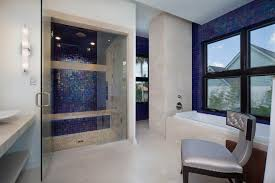 Blue Mosaic Bathroom Mirror by Mosaic Shower Tile Bathroom Contemporary With Bathroom Mirror