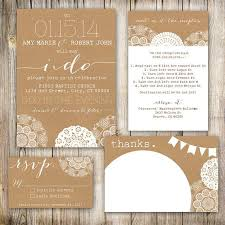 Wedding Invitations Rustic Chic By And Lace Laser Cut