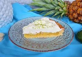 ananas kuchen mit limettensahne
