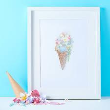 Ice Cream Sundae Illustration Print