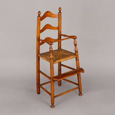 CHILD'S HIGHCHAIR Ladder-Back Child's Highchair ... 6 Ladder Back Chairs In Great Boughton For 9000 Sale Birch Ladder Back Rush Seated Rocking Chair Antiques Atlas Childs Highchair Ladderback Childs Highchair Machine Age New Englands Largest Selection Of Mid20th French Country Style Seat Side By Hickory Amina Arm Weathered Oak Lot 67 Set Of Eight Lancashire Ladderback Chairs Jonathan Charles Ding Room Dark With Qj494218sctdo Walter E Smithe Fniture Design A 19th Century Walnut High Chair With A Stickley Rush Weave Cape Ann Vintage Green Painted