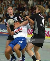 Piotr Chrapkowski Fabian Wiede Sport Handball Editorial Stock Photo