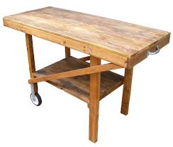 Table Wood Cart Furniture Garden Barbecue Coffee Outdoors Wooden Outdoor Man Made Object End