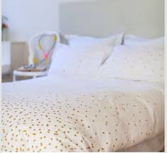 WHITE GOLD POLKA DOT BEDDING on The Hunt