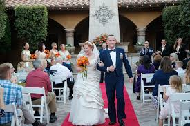 The Aisle Was A Red Carpet Strewn With Orange And Yellow Flower Petals Outdoor Ceremony Started Prayer Followed By Couple Reciting