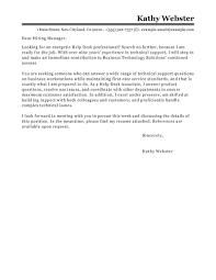 Apple Help Desk Coordinator Salary by Best Help Desk Cover Letter Examples Livecareer