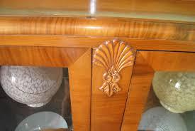 100 Art Deco Shape U Walnut Display Cabinet Cloud 9