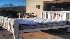 Pallet Bed Frame by Pallet Bed Frame Plans Youtube