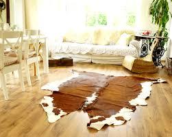 ikea echtes kuhfell fell 210x160 teppich landhaus rehbraun weiß schöne maserung