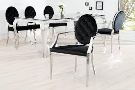 stuhl barock esszimmerstuhl schwarz 2er set armlehne
